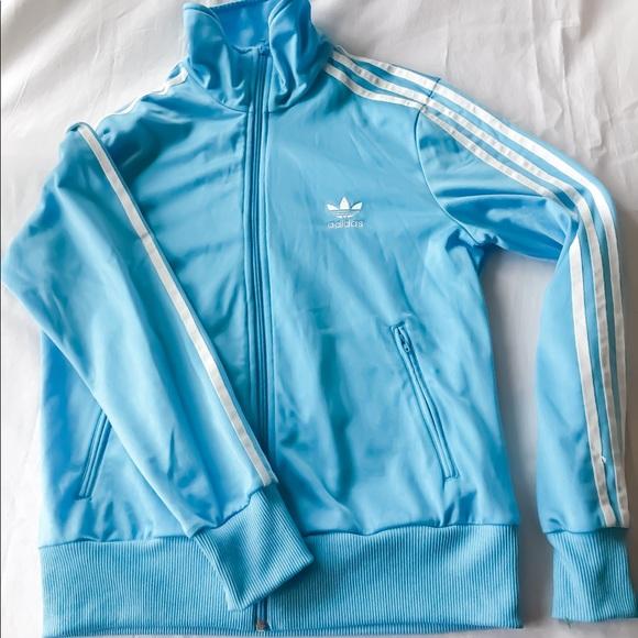 blue adidas jacket womens